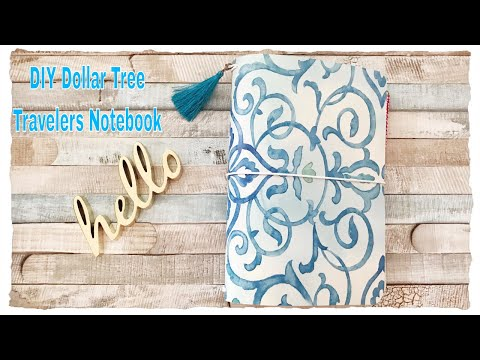 Easy DIY Dollar Tree Travelers Notebook Cover A5 Size (Jord Giveaway)