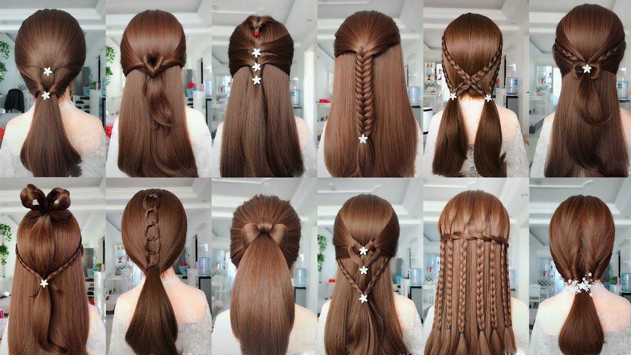 5 Kiểu Tóc Nữ Đẹp Đi Tiệc | Làm Tóc Đi Đám Cưới Đơn Giản | Hair Style Girl Bun For Wedding & Party | Tổng hợp những kiểu tóc nữ đẹp mới nhất