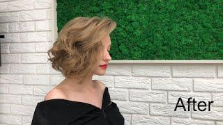 Прическа на короткие волосы Hairstyle for short hair Fashion hairstyle 2020