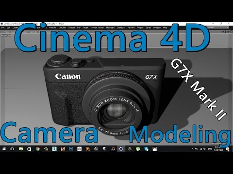 CINEMA 4D | CAMERA | MODELING | TUTORIAL | Canon PowerShot G7 X Mark II