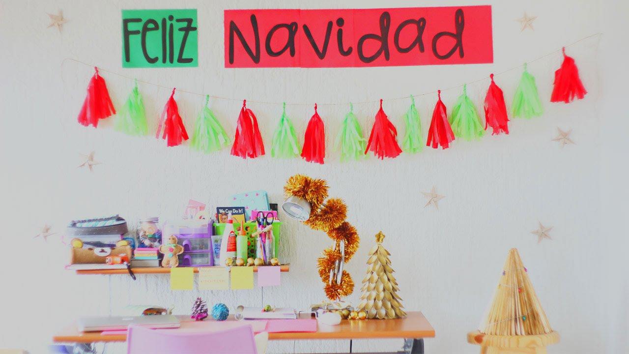 Decoraciones navide as f ciles para tu pared for Decoraciones para la pared de la sala
