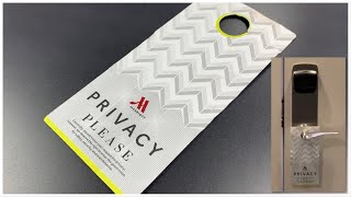 "[812] Hotel Room Opened With ""Privacy"" Card!"