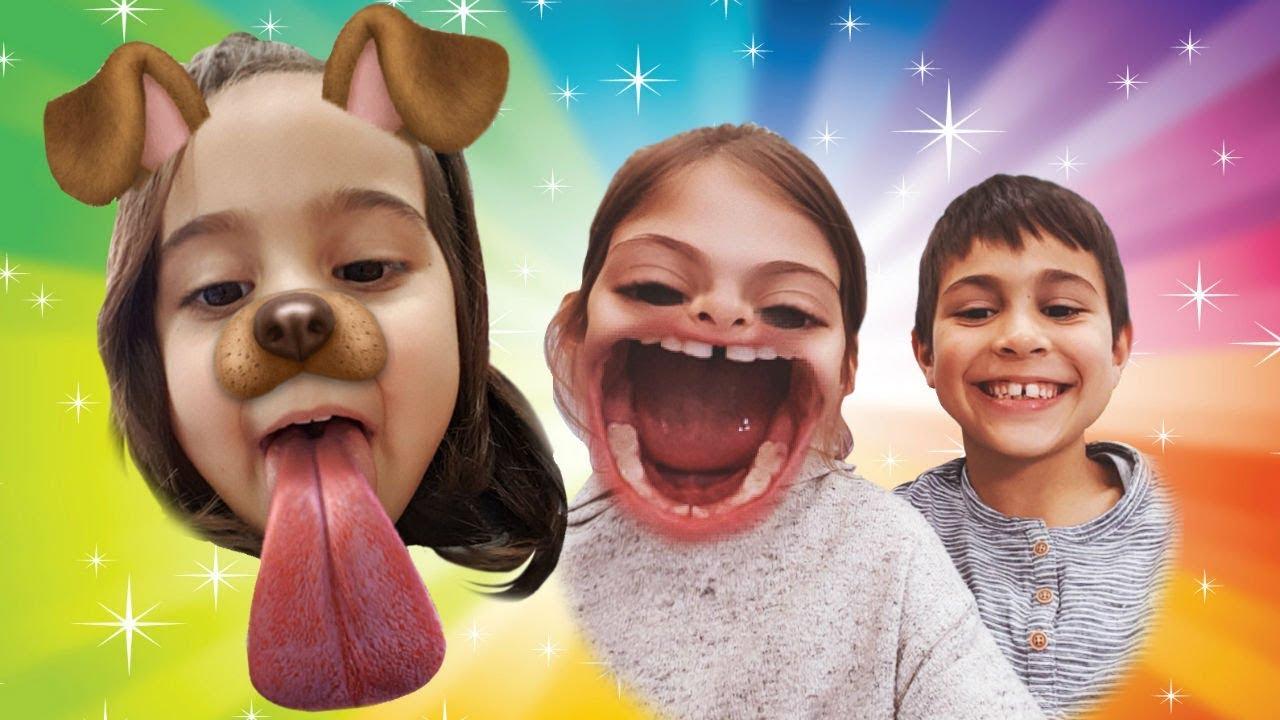 Snapchat ile oynuyoruz. Fındık ailesi çocuk dizisi