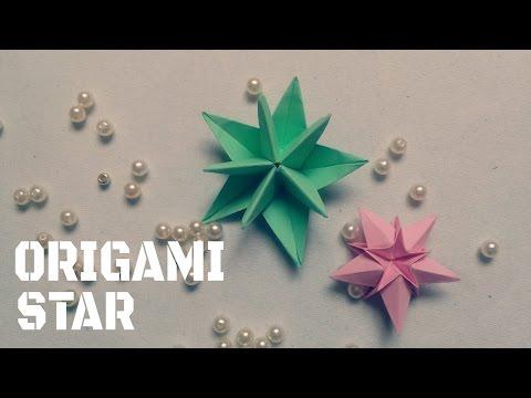 DIY - Làm ngôi sao trang trí bằng giấy