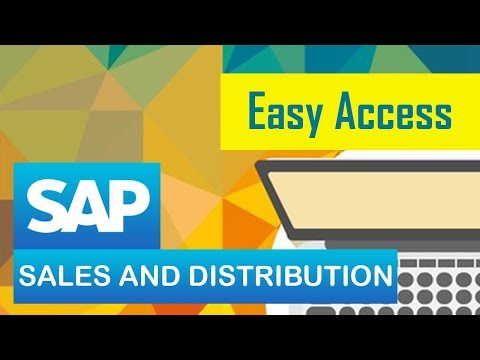 SAP SD | Sales | SAP Easy Access | SAP Sales & Distribution