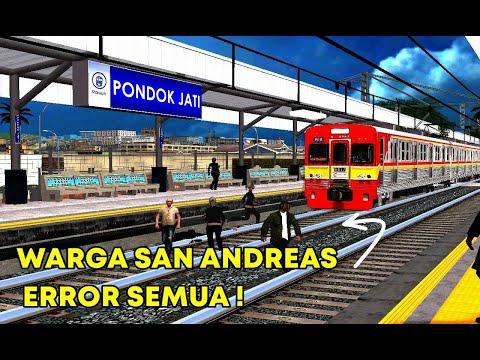 Hanya Disini Warga Cari Maut Saat Di Stasiun! Keberangkatan KA Di DAOP 1 Jakarta - GTA Mod Indo