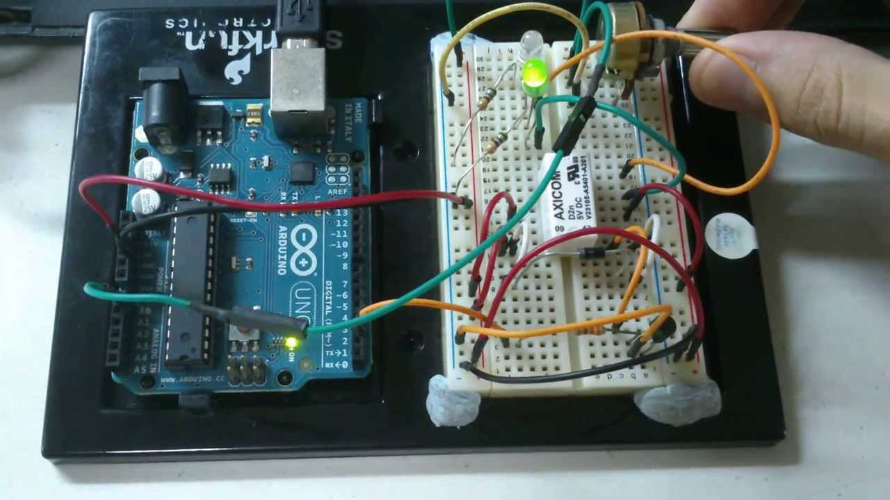 arduino project led switcher using a dpdt relay and a potentiometer youtube [ 1280 x 720 Pixel ]