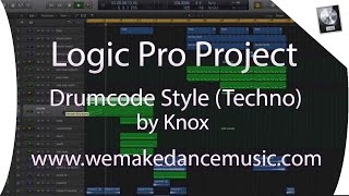 Logic Pro X Template - Techno - Drumcode Style by Knox