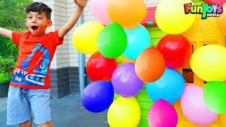Jason Plays with Toys and Balloons!