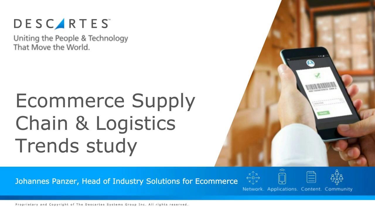 [Web Seminar] E-commerce Supply Chain & Logistics Trends Study