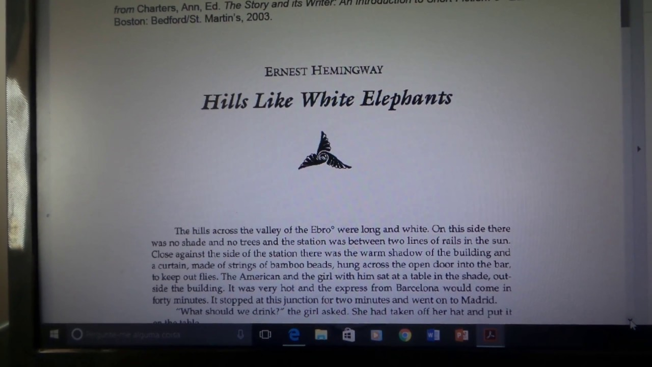 "an analysis of the book hills like white elephants by ernest hemingway Reader of ""hills like white elephants an analysis of ernest hemingway's donaldson ebro elements ernest hemingway's hills essays express."