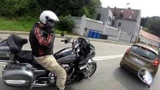 MOTOVLOG Rakousko #2 /Uchycení GoPro na helmě/ Kolik ujedete na jeden zátah / Přeřek
