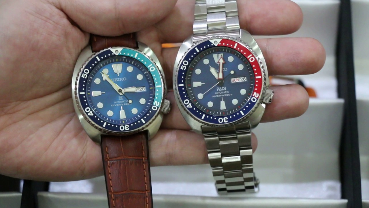 Seiko Padi Turtle Vs Seiko Blue Lagoon Turtle Youtube