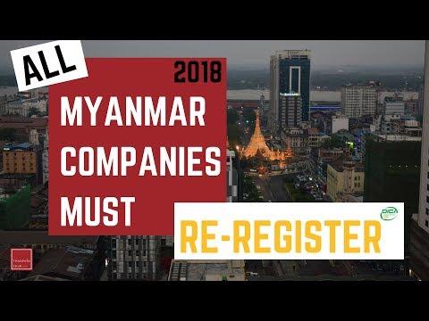 ALL Myanmar Companies: Re-registration @ DICA 2018 (MyCo Company Registration)