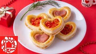 Романтичное блюдо на День Св. Валентина. Закуска Сердечки
