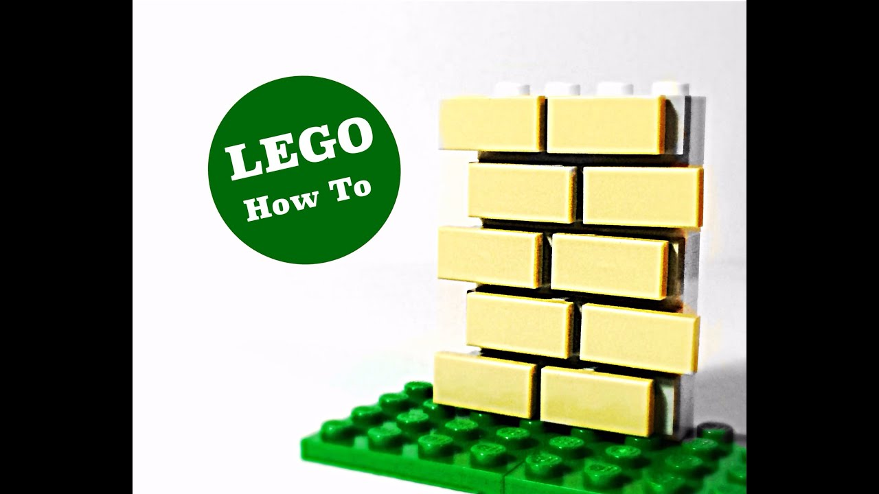 LEGO How To: Realistic Brick Wall - YouTube