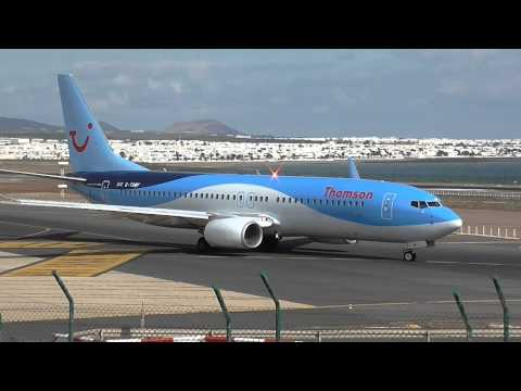 Busy 23 Minutes at Lanzarote Airport 28/12/14 HD