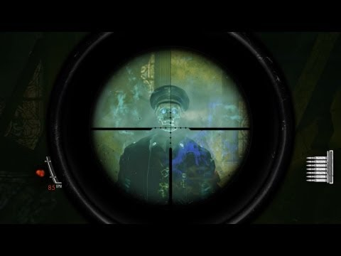 Sniper Elite: Nazi Zombie Army - Boss Battle Occult General (HD)
