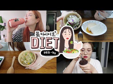 eng) diet vlog #6🥗 63kg!점점 날씬해지는 똚. 다이어트는 즐거워(?)