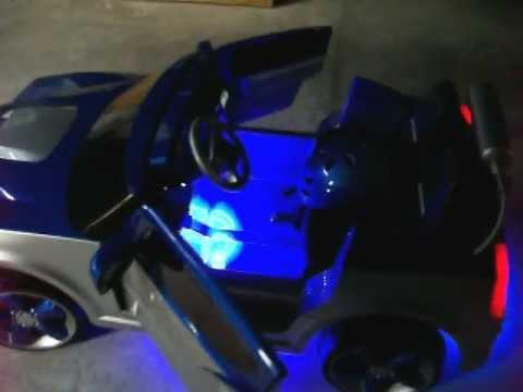 Modified Power Wheels Custom Built Royal Blue Dodge Charger part 2
