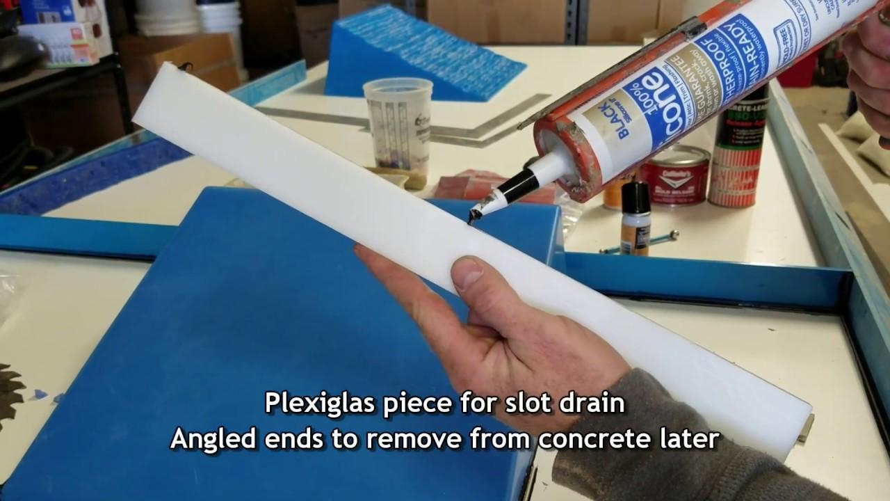 Ramp Slot Drain Concrete Sink