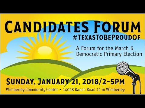 Texas Senate District 25 Candidate Forum with Q&A