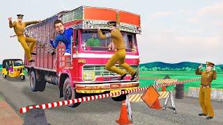 लालची ट्रक ड्राइवर Lalchi Truck Driver and Police Must Watch New  Comedy Video Hindi Kahaniya 2021