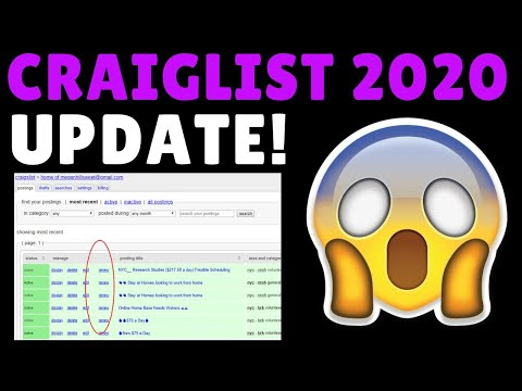 UPDATE! Craigslist Marketing 2020