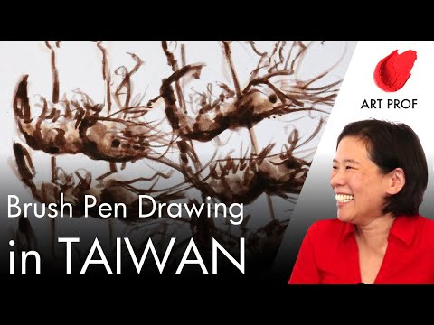 Urban Sketching in Taiwan with Brush Pens