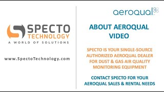 Specto Technology - About Aeroqual