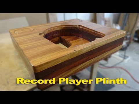 How to make a record player plinth using solid timber - woodworking