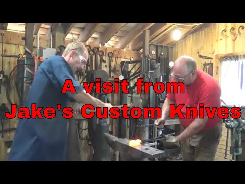Forging a hammer with Jake from Jake's Custom Knives