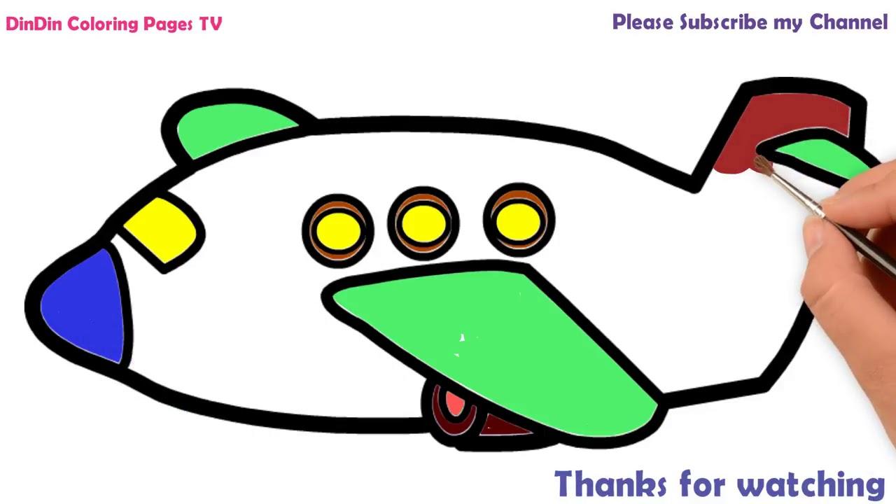 Wie Zeichnet Man Flugzeug Für Kinder Malvorlagen Für Kinder
