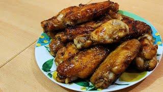 Куриные крылышки в медовом соевом соусе