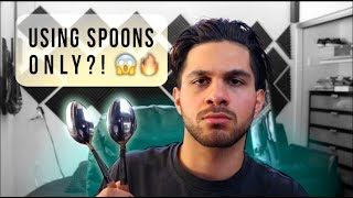 making a song using SPOONS ONLY!!
