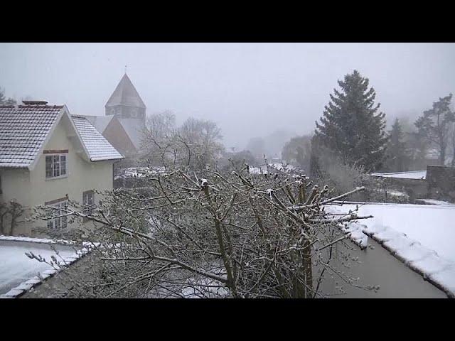 Nevasca de primavera na Bélgica