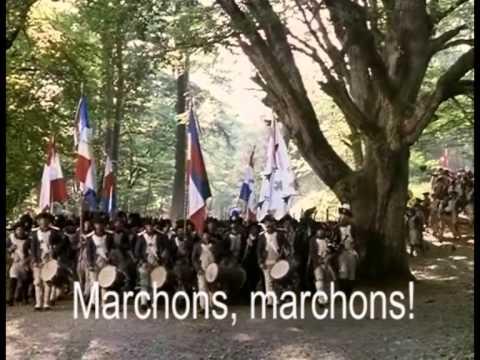 National Anthem of France! Troops of Marseille 1793, Lyrics: GER/EN/FR