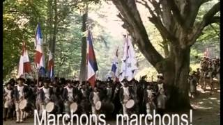 National Anthem of France! Troops of Marseille 1793, Lyrics: GER/EN/FR