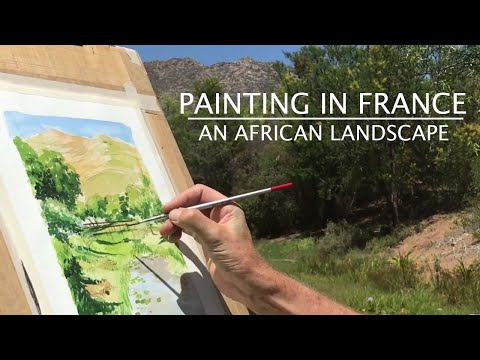 Painting in France Watercolour Landscape Painting 'en plein air' in South Africa