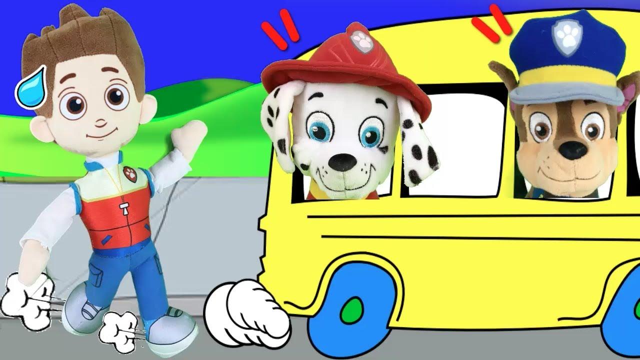 Patrulla canina y el bus / Videos de juguetes paw patrol para niños en español