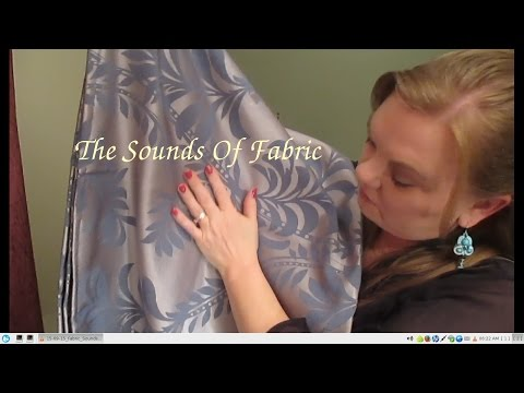 ASMR  **THE SOUNDS OF FABRIC/WHISPERED**