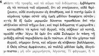 Koine Greek - Matthew 1-11