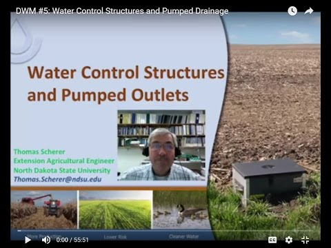 DWM #5: Water Control Structures and Pumped Drainage