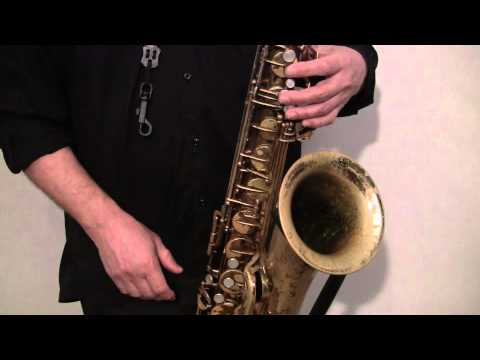 Saxophone Fingering Lesson #1 (part 1)