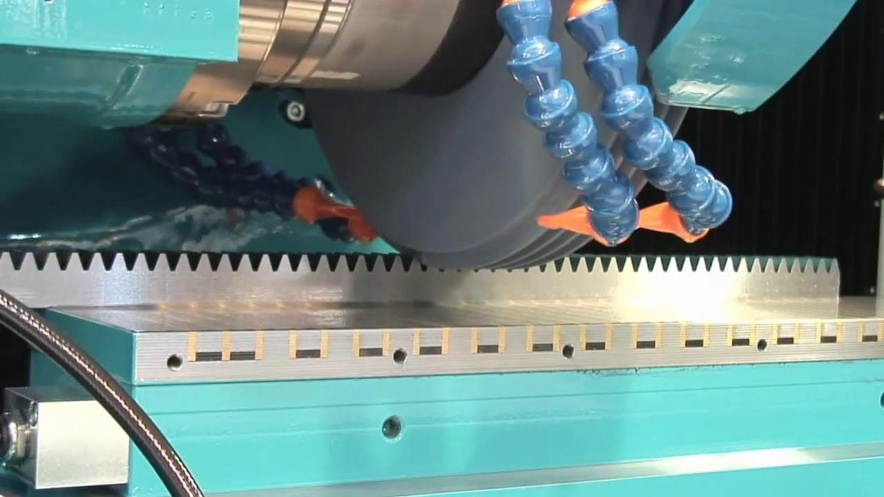 gear rack production on schneeberger cnc grinder corvus