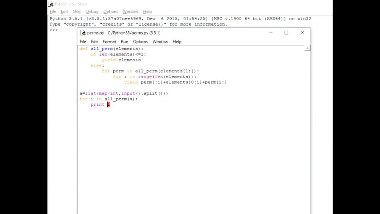 Permutation in Python