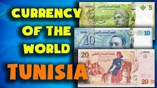 Currency of the world - Tunisia. Tunisian dinar. Exchange rates Tunisia.Tunisian banknotes and coins