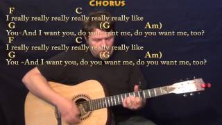 I Really Like You (Carly Rae Jepsen) Strum Guitar Cover Lesson with Chords/Lyrics - Capo 5th