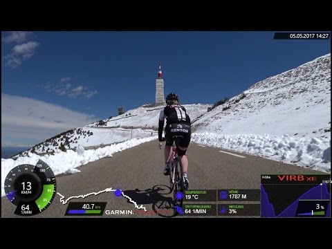 120 Minute Uphill Cycling Training Mont Ventoux France Full HD
