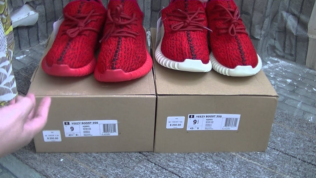 Authentic adidas Yeezy 350 Boost All Red